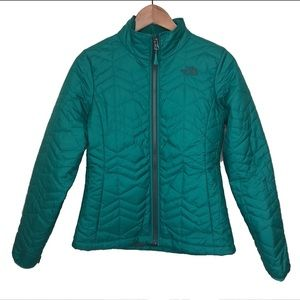 The North Face Jackets & Coats - North Face women's Bombay quilted zip green